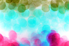 Colorful defocused bokeh lights background. Royalty Free Stock Photos