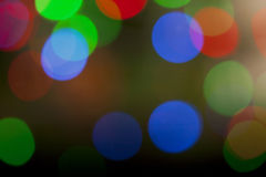 Colorful defocused Christmas Lights Stock Photography