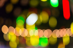 Colorful defocused color lights bokeh background, Chrismas light Royalty Free Stock Images