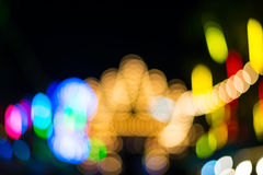 Colorful defocused color lights bokeh background, Chrismas light Stock Photo