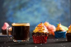 Colorful Delicious Cupcakes Stock Photo