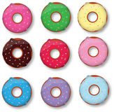 Colorful delicious donuts  Stock Photography