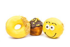 Colorful delicious donuts Stock Photo