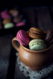Colorful and delicious french macarons Royalty Free Stock Photography