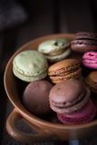 Colorful and delicious french macarons Royalty Free Stock Image