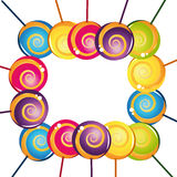 Colorful delicious lollipop collection Stock Photography