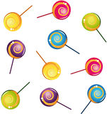 Colorful delicious lollipop collection Royalty Free Stock Photos