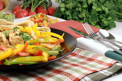 Colorful delicious mexican fiesta plate Stock Images