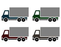 Colorful delivery trucks Stock Photo