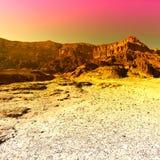 Colorful Desert in Israel. Stock Image