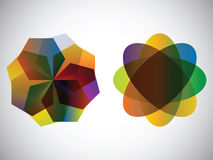 Colorful design. Two abstract designs - multicolor illustration Royalty Free Stock Images