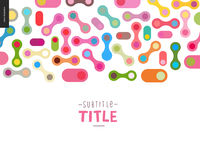 Colorful design banner Stock Image