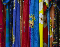 Colorful design batik cloth Stock Photography
