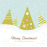 Colorful design Christmas tree Royalty Free Stock Images