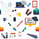 Colorful Design Collection. Happy fathers day Stock Photo