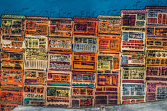Colorful design drawing street wall Soho Central Hong Kong Royalty Free Stock Image