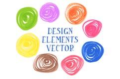 Colorful design element on white background Stock Image