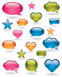 Colorful design elements Stock Images