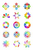 Colorful design elements Royalty Free Stock Image