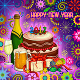Colorful design of Happy New Year greeting royalty free illustration