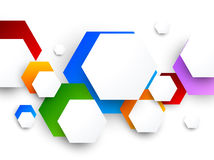 Colorful design with hexagons Stock Photos