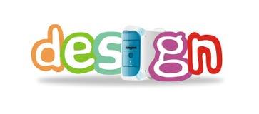 Colorful design illustration. White  colorful design illustration Stock Image