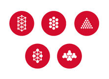 Colorful design molecule element. Abstract vector. Molecule Icons Set - Isolated On White - Vector Illustration, Graphic Design Useful For Your Design Royalty Free Stock Images