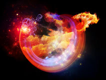Colorful Design Nebulae Stock Photos