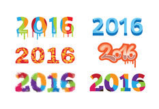2016 Colorful Design Number Design. 2016 Colorful Design Number Template Royalty Free Stock Photos