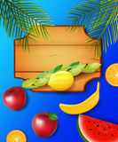 Colorful design for Sukkot. Stock Photography