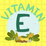 Colorful design of vitamin e Royalty Free Stock Photo