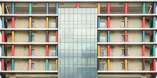 Colorful designed Building. A Building with Decorated by Multi Color pillars stock images