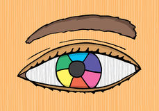 Colorful designer eye Stock Photos