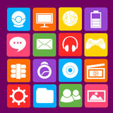 Colorful Desktop Blue Icon Stock Images