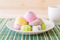 colorful dessert mochi Royalty Free Stock Image