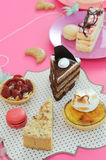 Colorful dessert party with many cakes Stock Photos