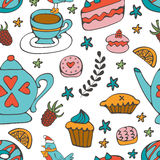Colorful desserts seamless pattern Royalty Free Stock Image