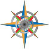 Colorful detailed compass Royalty Free Stock Photography
