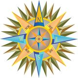 Colorful detailed compass royalty free stock photo