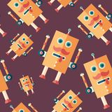 Robot sponge flat icon seamless pattern. Colorful detailed and realistic flat design style icon seamless pattern vector illustration