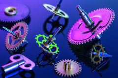 Colorful details clockwork Royalty Free Stock Photo