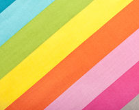 Colorful diagonal fabric texture. Colorful diagonal stripes fabric texture for background Stock Images