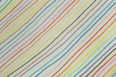 Colorful diagonal line background made from pencil color Stock Photo