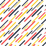 Colorful diagonal lines seamless pattern. Design Vector Illustration