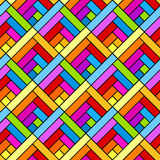 Colorful diagonal squares seamless geometric pattern. Diagonal squares in rainbow colors geometric pattern background. Seamless tile vector illustration