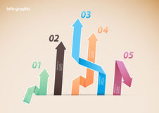 Colorful diagram with arrows and numbers. Royalty Free Stock Photography