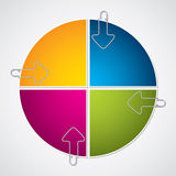 Colorful diagram design with arrow paper clips Royalty Free Stock Image