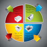Colorful diagram design with products Stock Photos