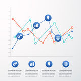 Colorful diagram design for workflow layout, number options, web. Design, infographics. Vector illustration background Stock Images