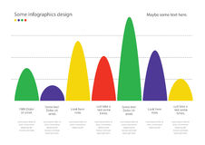 Colorful diagram infographic vector. Useful for presentation, web design or advertisement. Royalty Free Stock Photos